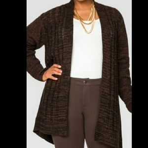 Cardigan duster sweater